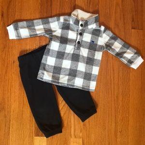 Carter's Baby Boys 12mo fleece sweater & pants set